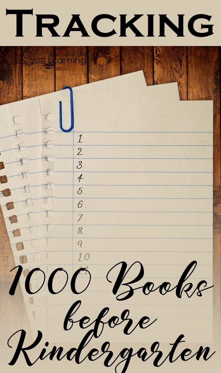 Reading And Tracking 1000 Books Before Kindergarten, Including A - Free Printable Pre K Reading Books