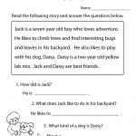 Reading Comprehension Practice Worksheet | Education | 1St Grade   Free Printable English Comprehension Worksheets For Grade 4
