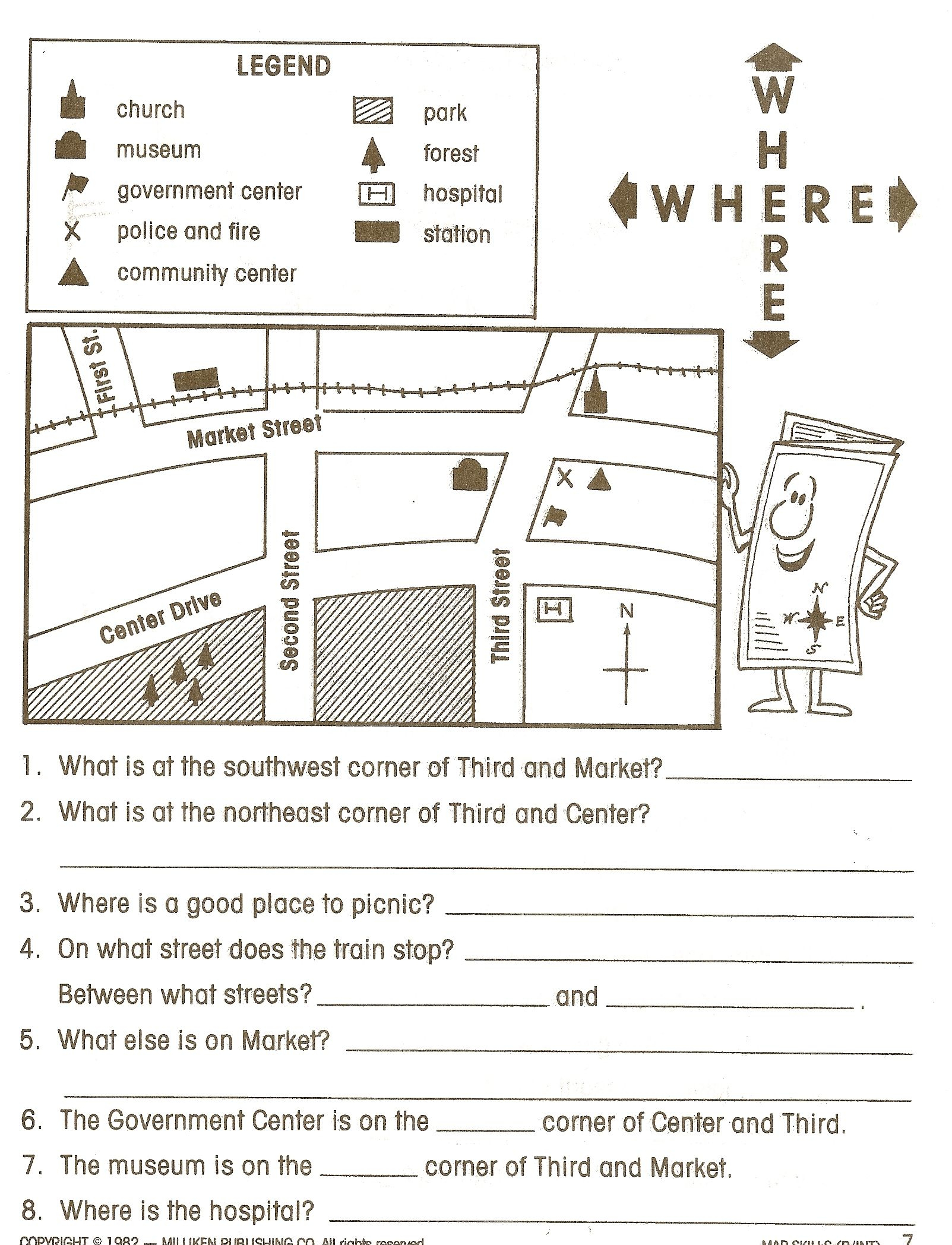 Reading Maps Worksheet Free Worksheets Library Download And - Free Printable Library Skills Worksheets