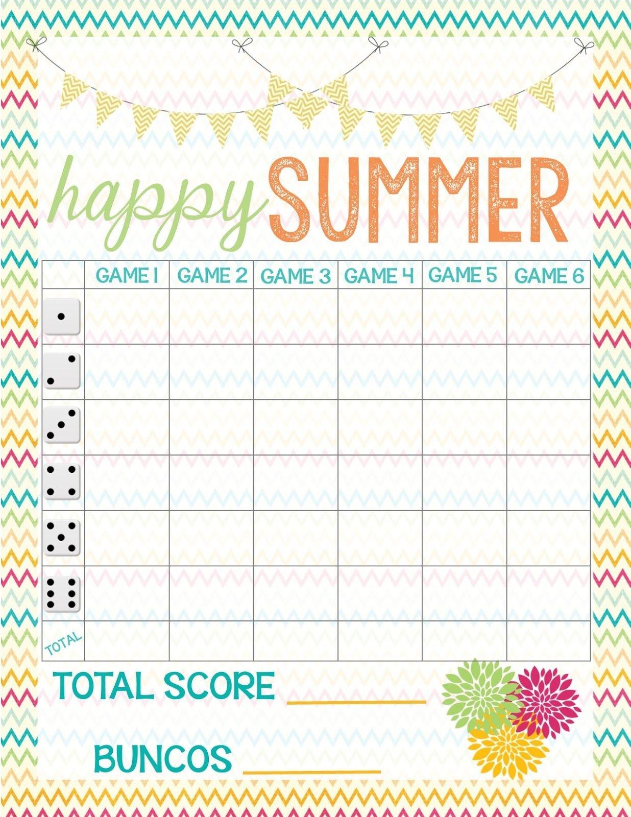 Recipes From Stephanie: Free Bunco Score Sheet | Bunco In 2019 - Free Printable Bunco Score Sheets