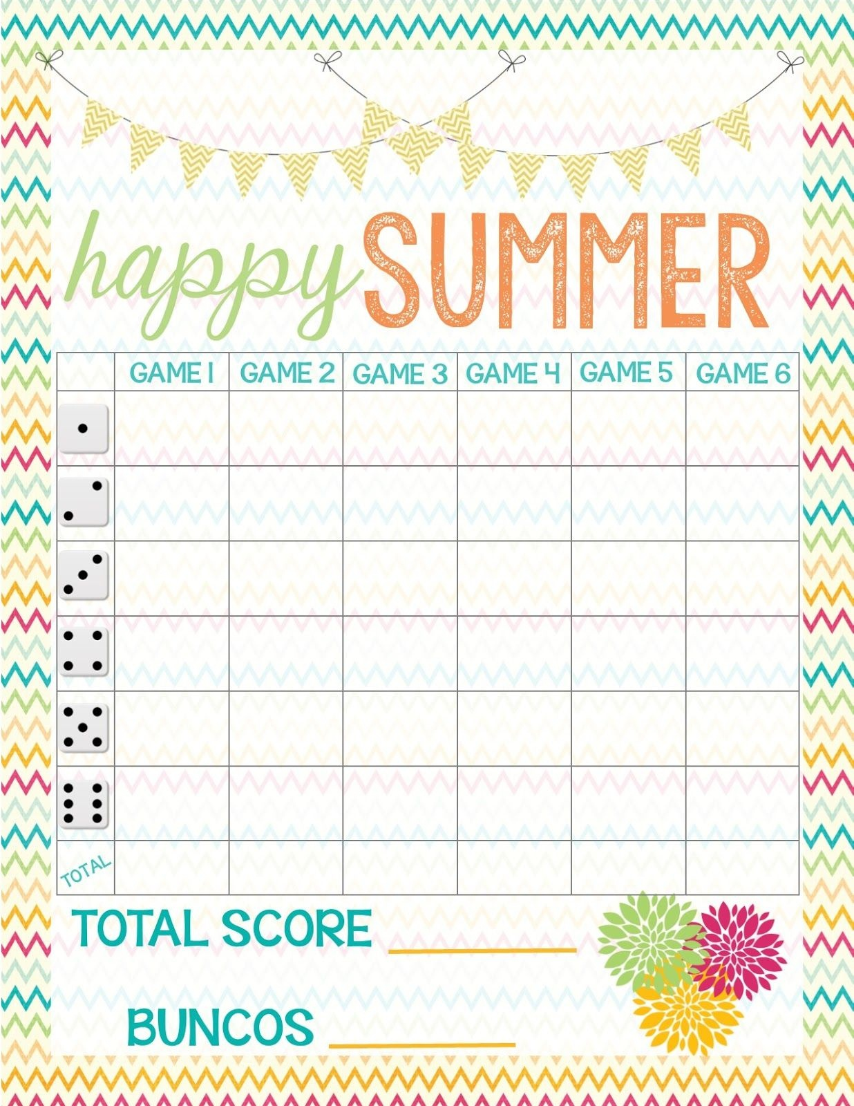 Recipes From Stephanie: Free Bunco Score Sheet   Bunco In 2019 - Printable Bunco Score Cards Free