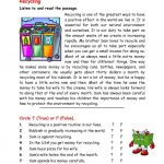 Recycling Worksheet   Free Esl Printable Worksheets Madeteachers   Free Printable Recycling Worksheets