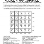 Redhead64's Obscure Puzzle Blog!: Puzzle #93: Anagram Magic Square 2   Free Printable Anagram Magic Square Puzzles