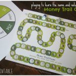 Relentlessly Fun, Deceptively Educational: Money Trail Board Game   Free Printable Game Money