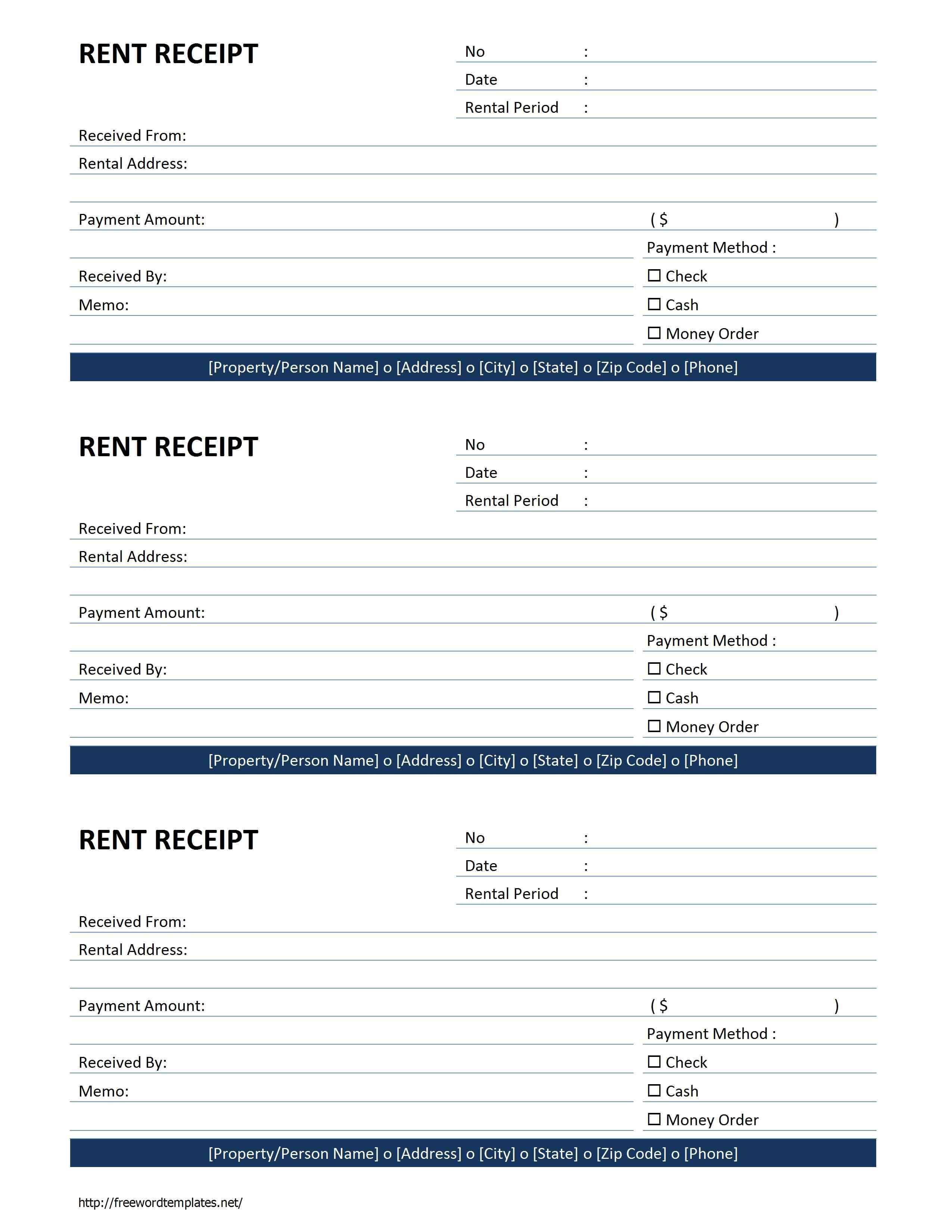 Rent Receipt Template | Free Microsoft Word Templates - Free Rent - Free Printable Rent Receipt