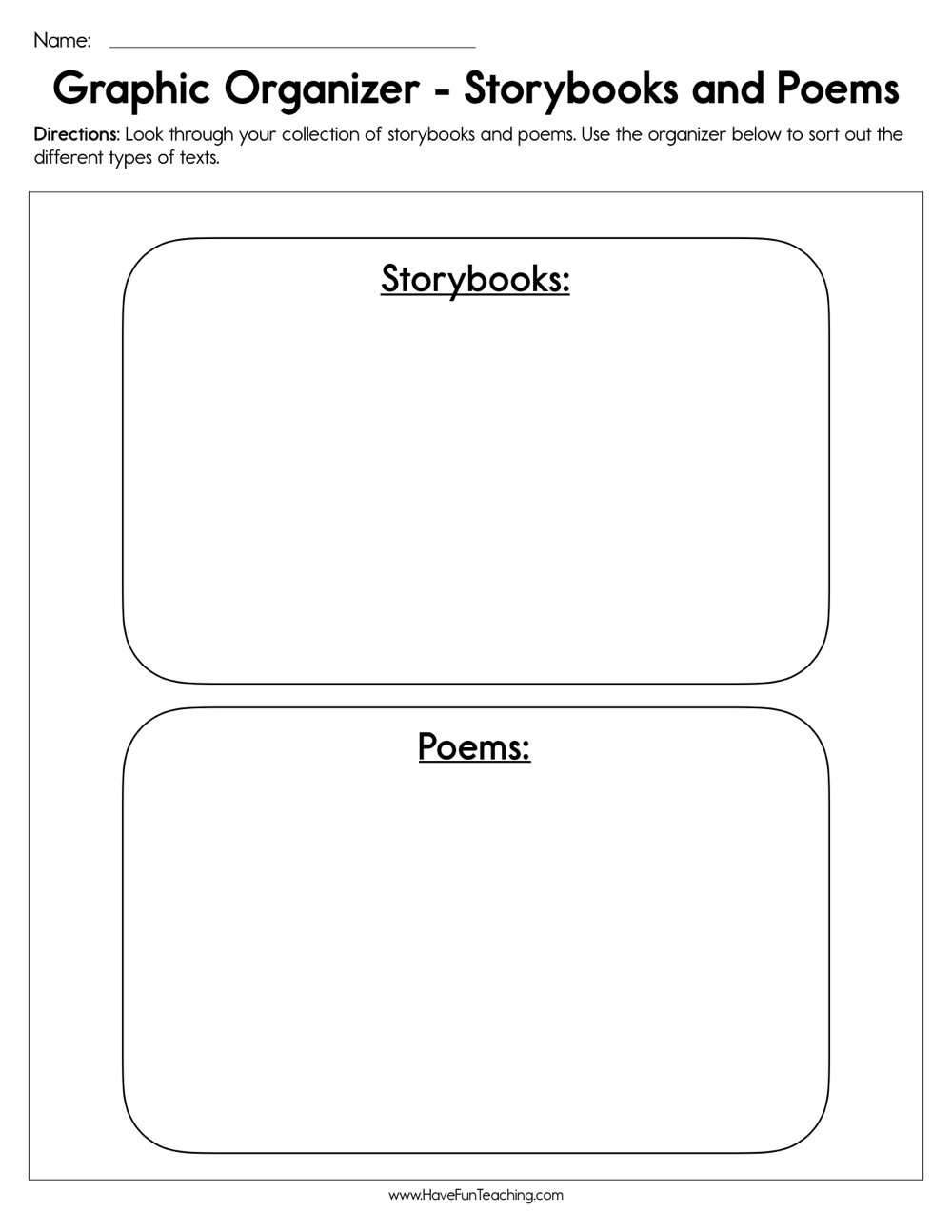 Resources | Have Fun Teaching - Free Printable Compare And Contrast Graphic Organizer