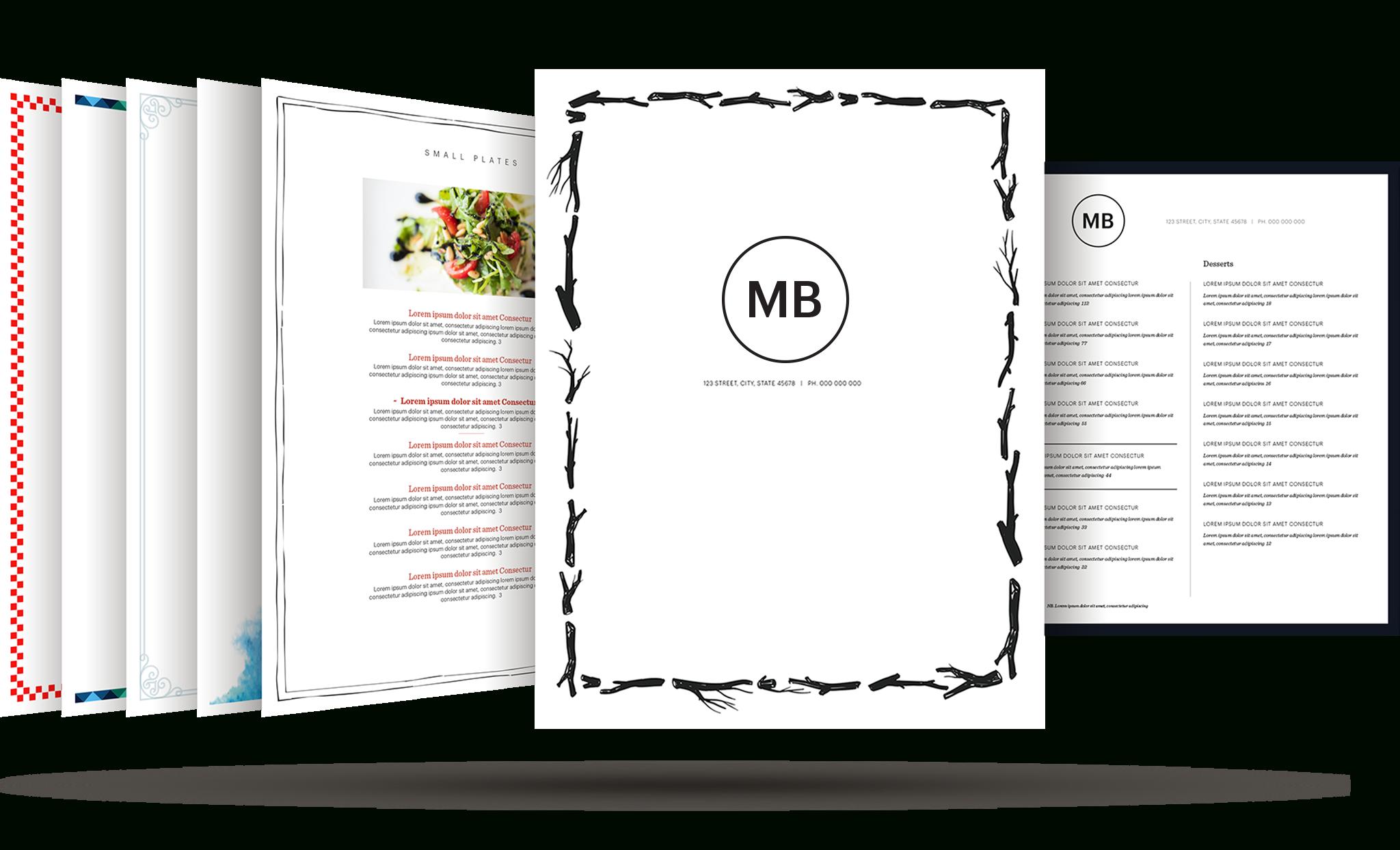Restaurant Menu Template   Build Your Free Restaurant Menu Maker - Free Online Printable Menu Maker