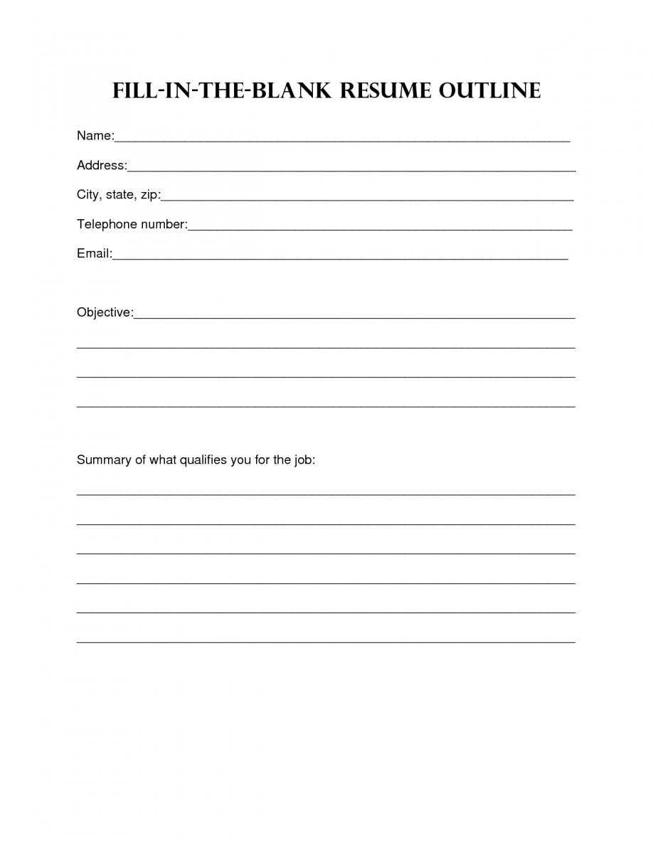 Resume Design. Blank Resume Template Sample Blank Resume Templates - Free Blank Resume Forms Printable