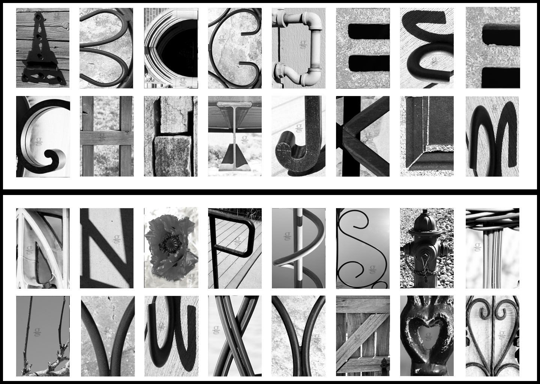 "Review: Classic Black & White ""Alphabet Photography"" | Art - Free Printable Photo Letter Art"