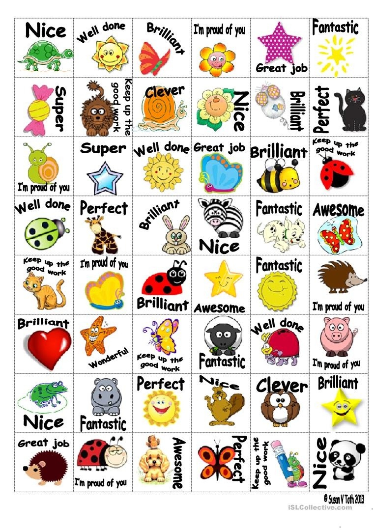 Reward Stickers 3 Worksheet - Free Esl Printable Worksheets Made - Free Printable Stickers For Teachers