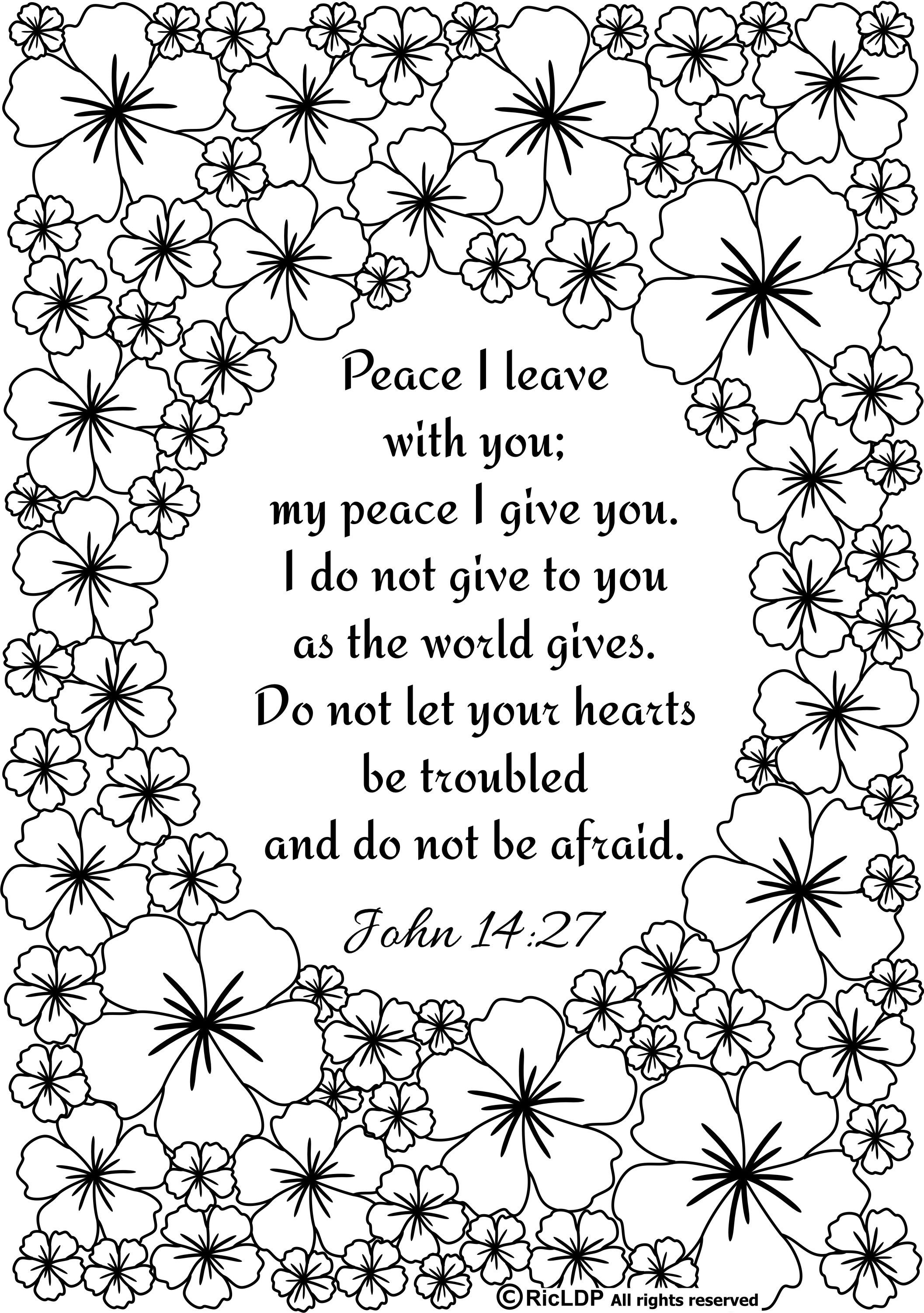 Ricldp Artworks (Ricldp) | Coloring Pages!!! | Bible Verse Coloring - Free Printable Bible Coloring Pages With Scriptures
