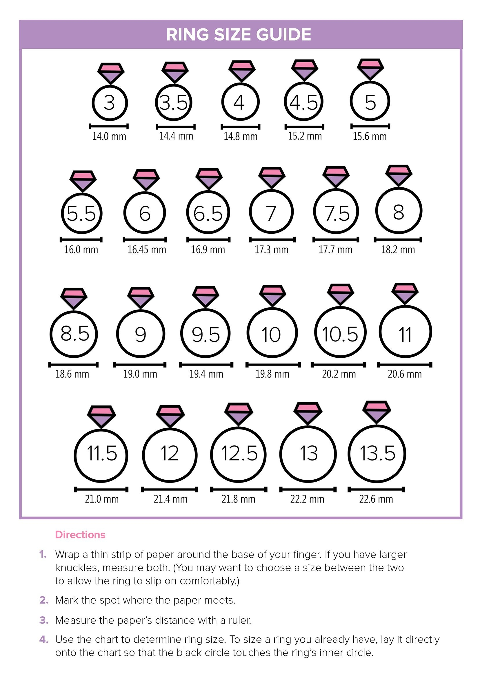 Ring Doesn't Fit? Here's The Easiest Way To Find Your Size   Style - Free Printable Ring Sizer Uk