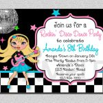 Rock Star Birthday Invitation Disco Rock Star Birthday Party | Etsy   Free Printable Karaoke Party Invitations