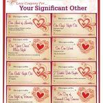 Romantic Love Coupon Template Printable   Love Coupons For Your   Free Printable Love Coupons