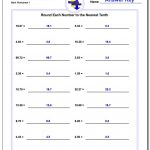 Rounding Numbers   Free Printable 4Th Grade Rounding Worksheets