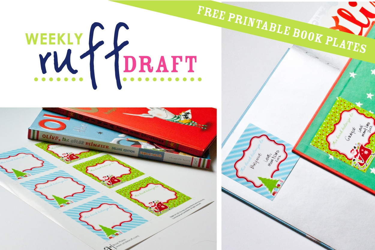 Ruff Draft: Free Printable Book Plates For Christmas - Anders Ruff - Free Printable Christmas Bookplates