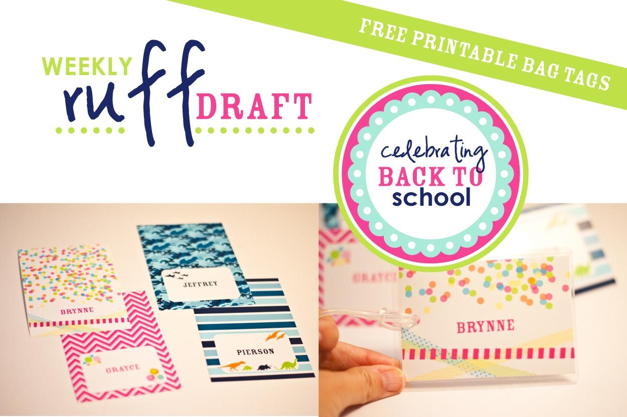 Ruff Draft: Free Printable School Bag Tags - Anders Ruff Custom - Free Printable Gift Bag Tags