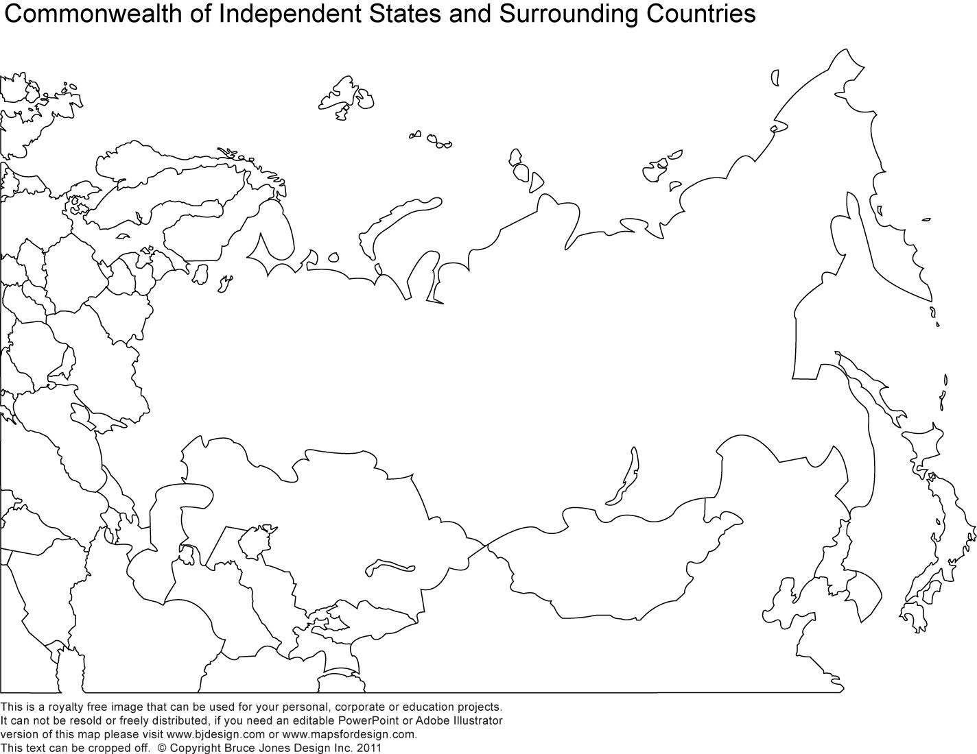 Russia, Asia, Central Asia Printable Blank Maps, Royalty Free | Maps - Free Printable Map Of Russia