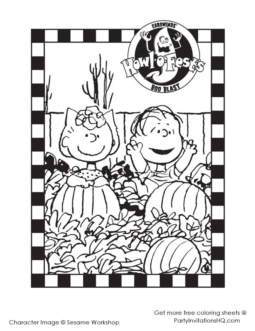 Sally And Linus Hallowen | Linus | Halloween Coloring, Halloween - Free Printable Charlie Brown Halloween Coloring Pages