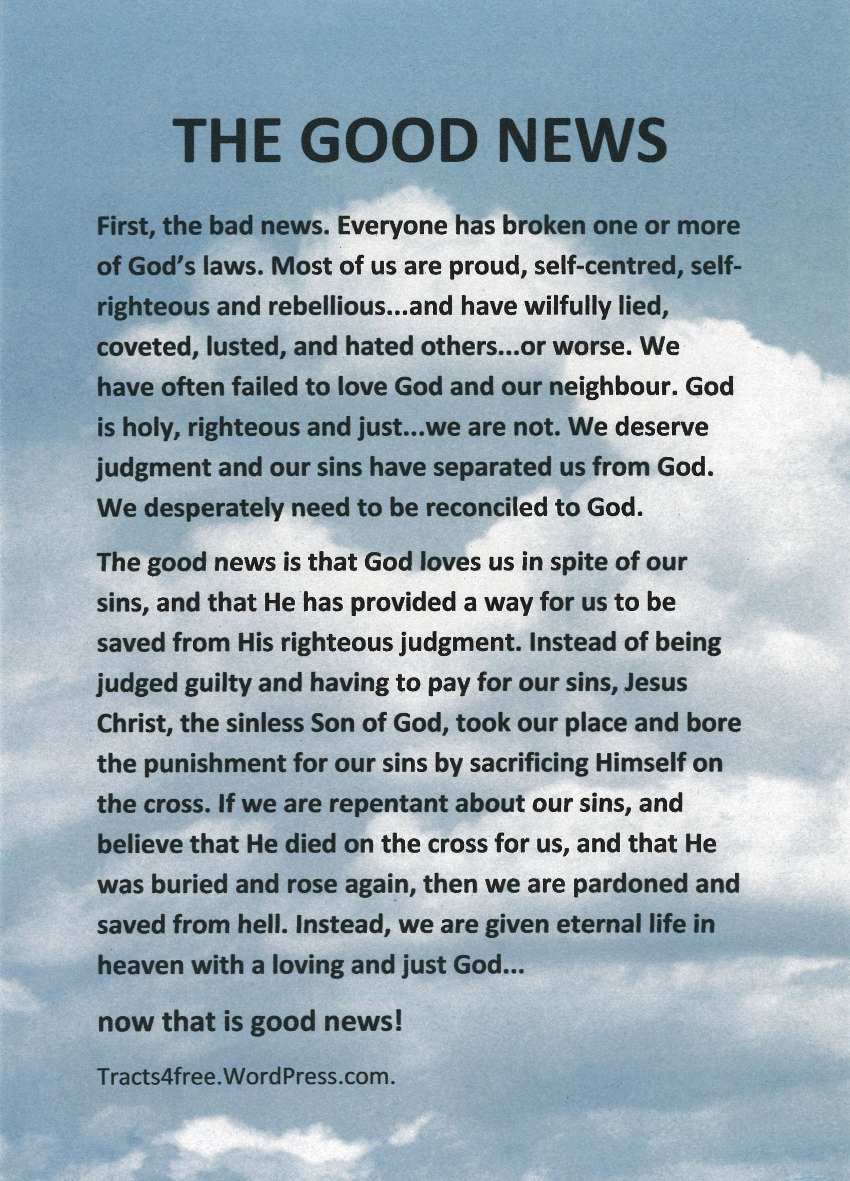 Salvation Tracts Printable - Google Search   The Good News   Good - Free Bible Tracts Printable