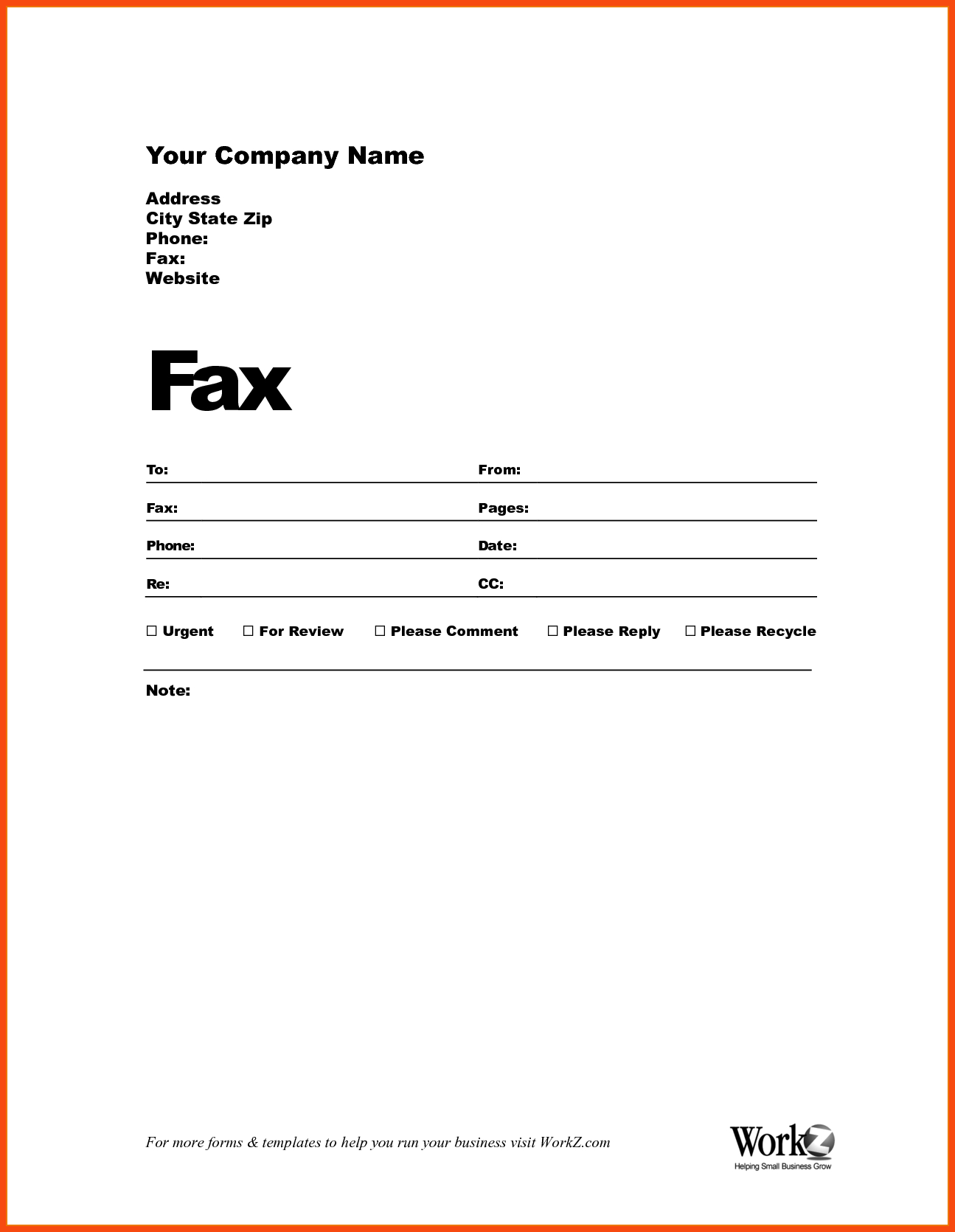 Sample Fax Cover Sheets Template - Tutlin.psstech.co - Free Printable Fax Cover Page