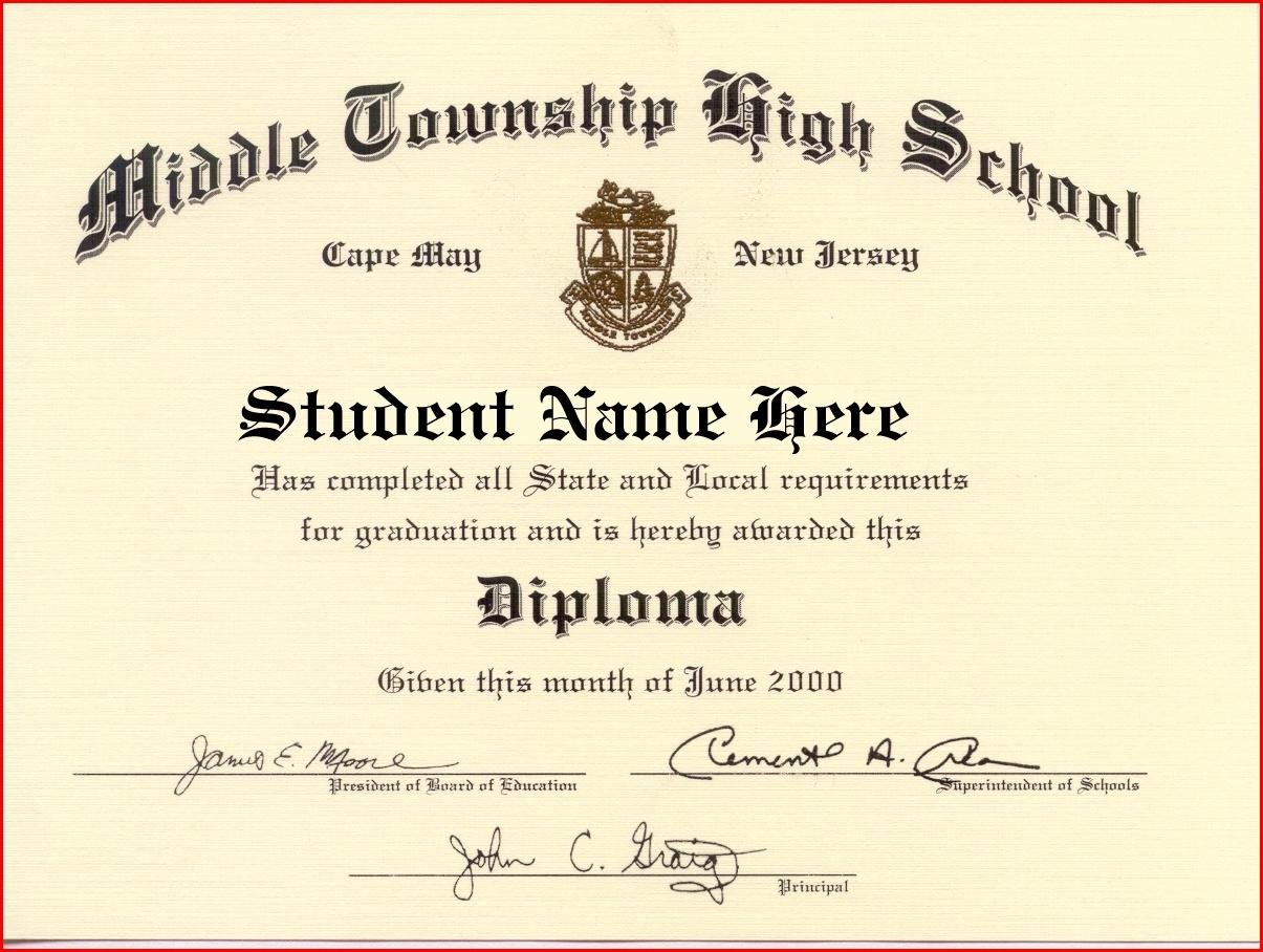 Sample Of High School Diploma - Tutlin.psstech.co - Free Printable High School Diploma Templates