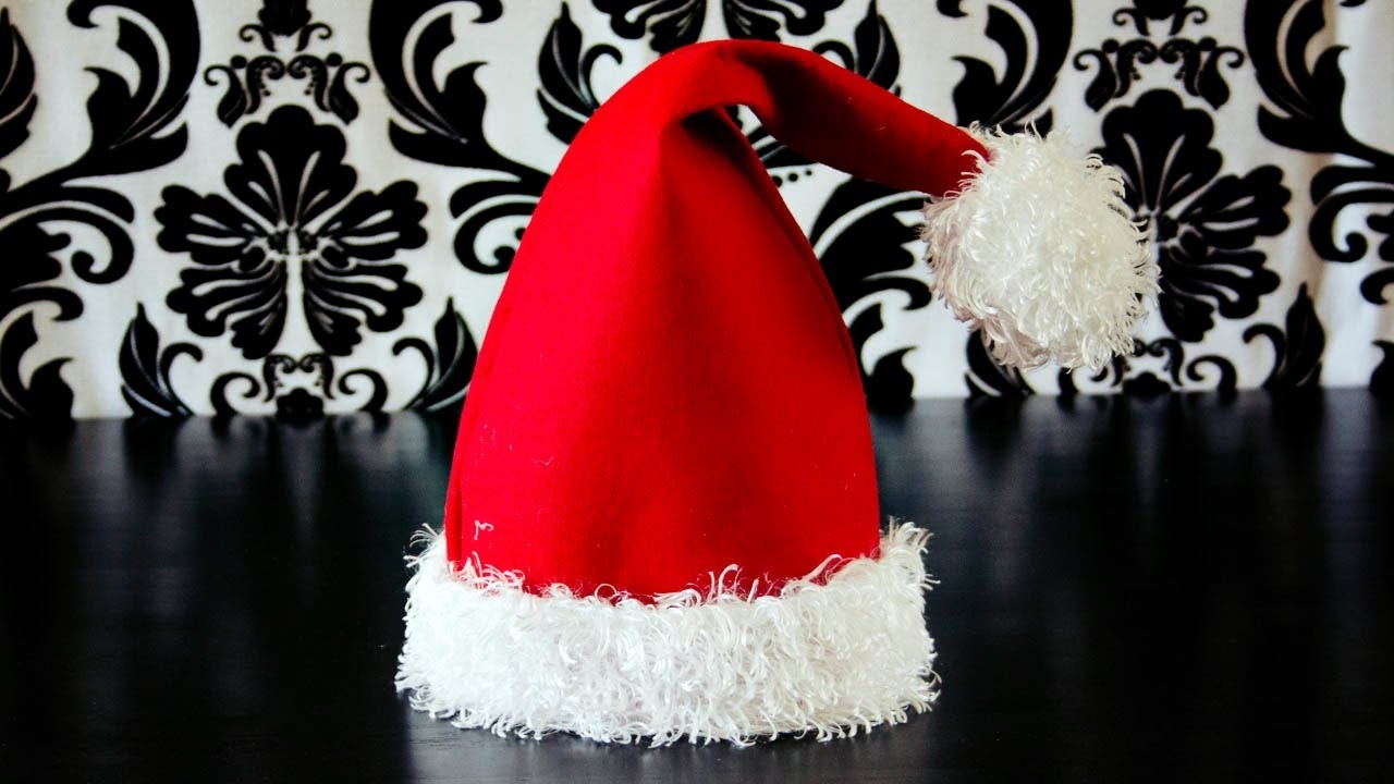 Santa Hat How To With Free Pattern And Video Tutorial - Free Printable Santa Hat Patterns