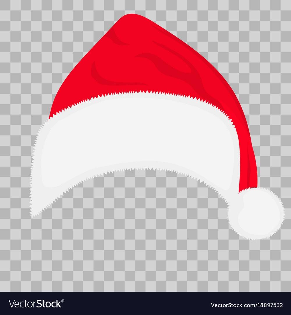 Santa Hat On Transparent Background Royalty Free Vector - Free Printable Santa Hat Patterns