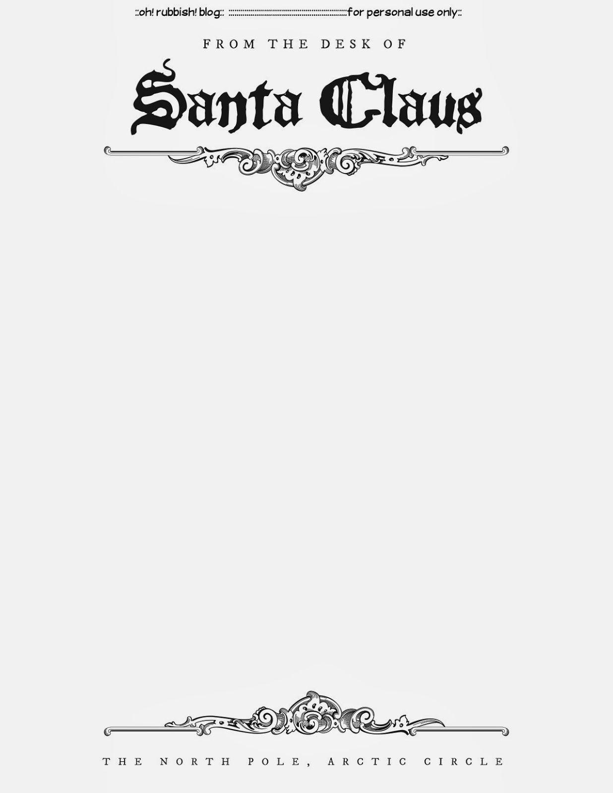 Santa Letter Templates   Christmas Printables 5   Santa Letter - Free Printable Letter From Santa Template