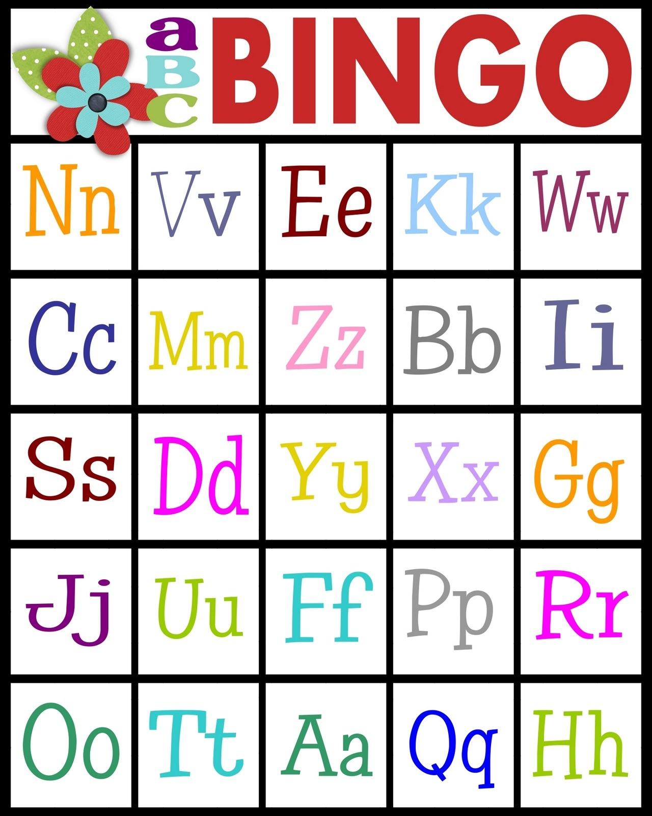 Sassy Sanctuary: Abc's Bingo- Free Printable! - Free Printable Alphabet Board Games