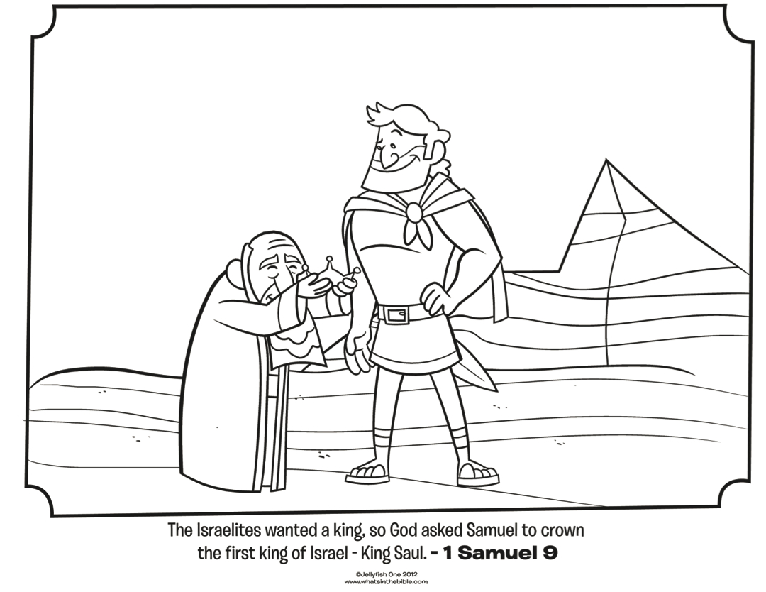 Saul And Samuel - Bible Coloring Pages | What's In The Bible? - Free Printable Bible Characters Coloring Pages
