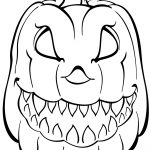 Scary Pumpkin Coloring Page | Free Printable Coloring Pages   Free Printable Pumpkin Coloring Pages