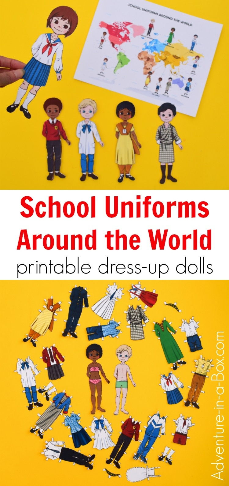 School Uniforms Around The World: Printable Dress-Up Paper Dolls - Free Printable Paper Dolls From Around The World