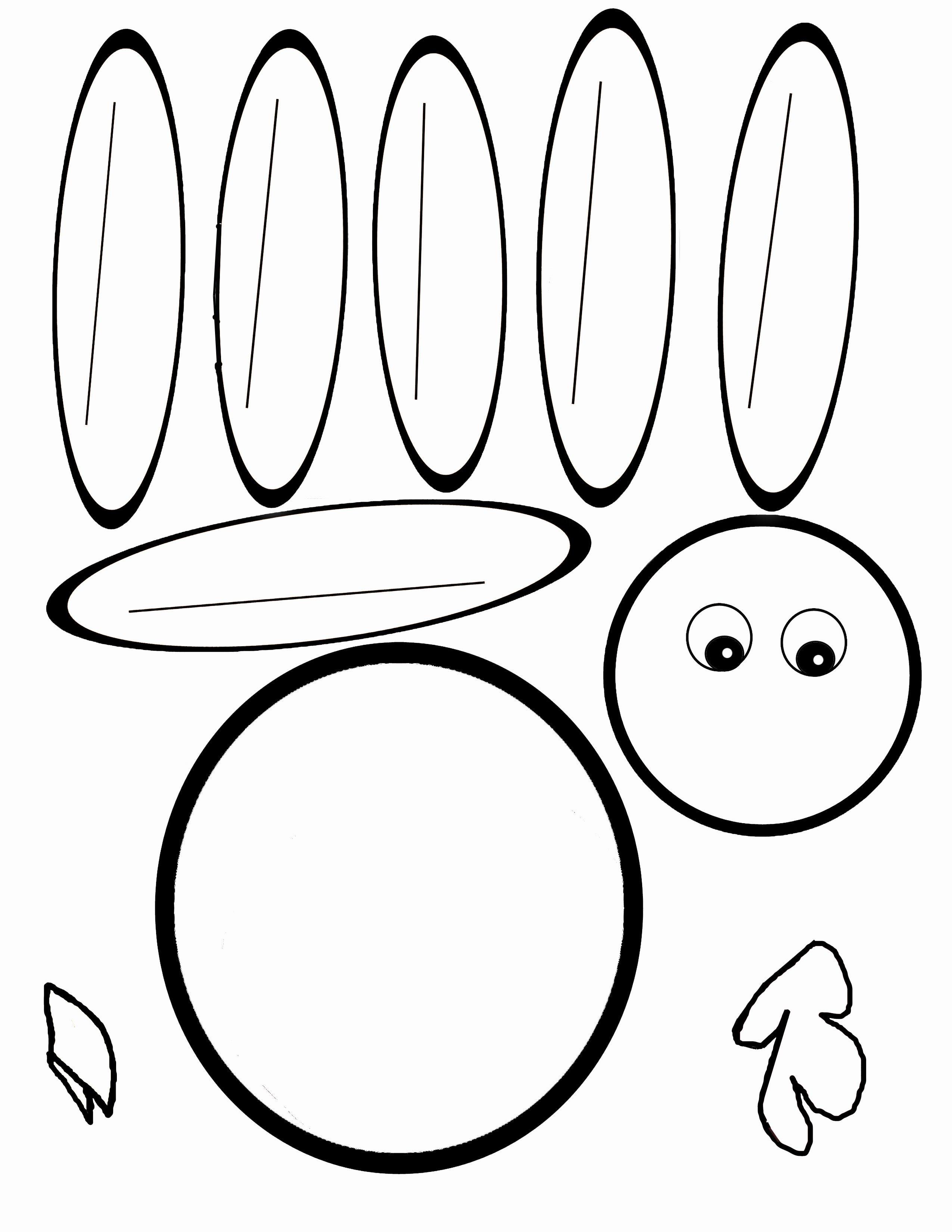 Scissor Cutting Turkey Template | Pediatric Ot | Turkey Template - Free Printable Turkey Template
