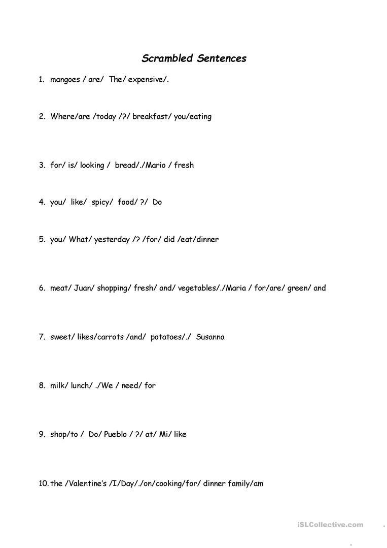 Scrambled Sentences Worksheet - Free Esl Printable Worksheets Made - Free Printable Scrambled Sentences Worksheets