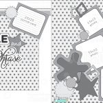 Scrapbook Layouts   Printable Cuttable Creatables   Free Printable Scrapbook Pages
