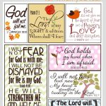 Scripture For When You Are Fearful   Bannie's Bible Journaling   Free Printable Inspirational Bible Verses