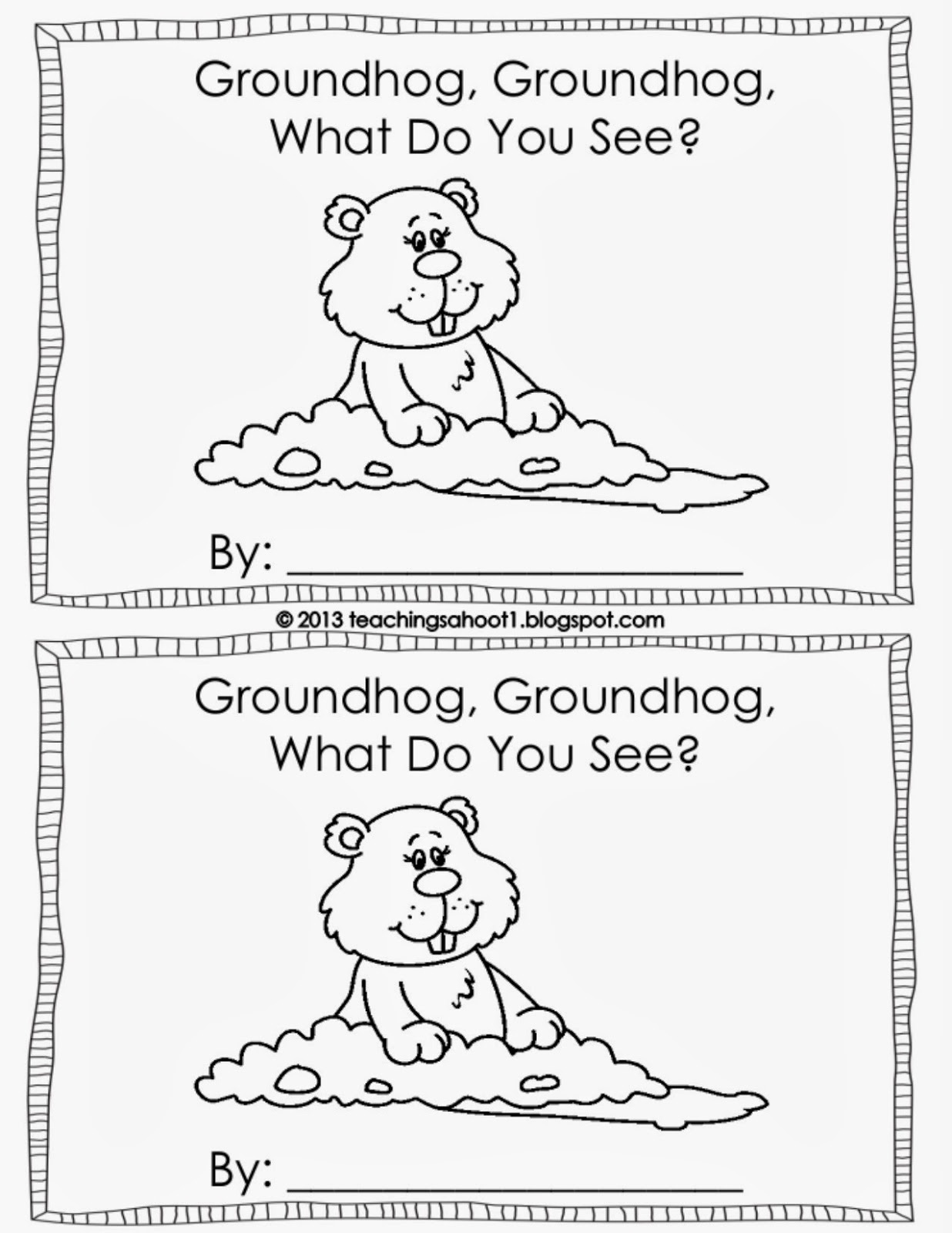 Second Grade Signpost: Tried-It-Tuesday - Groundhog Day! {Craft Freebie} - Free Printable Groundhog Day Booklet