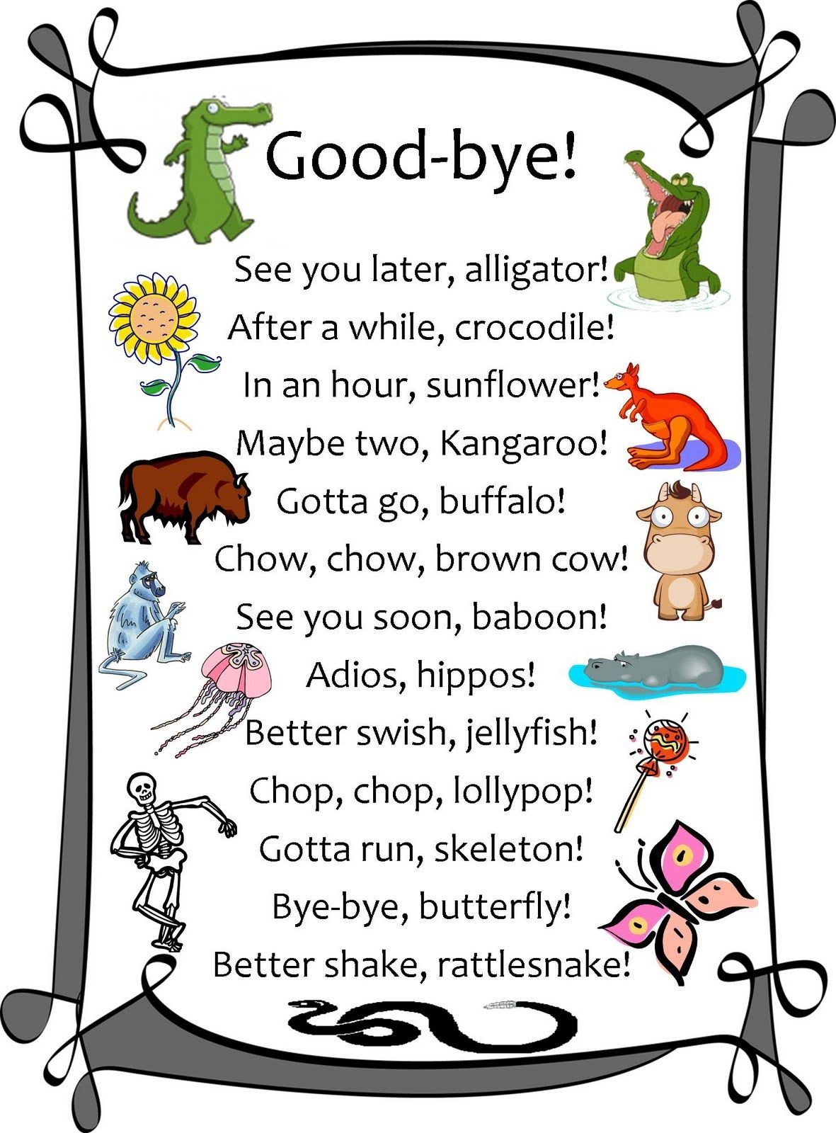 See You Next Year | Humor | Goodbye Gifts, Teacher Cards, Good Goodbye - See You Later Alligator Free Printable