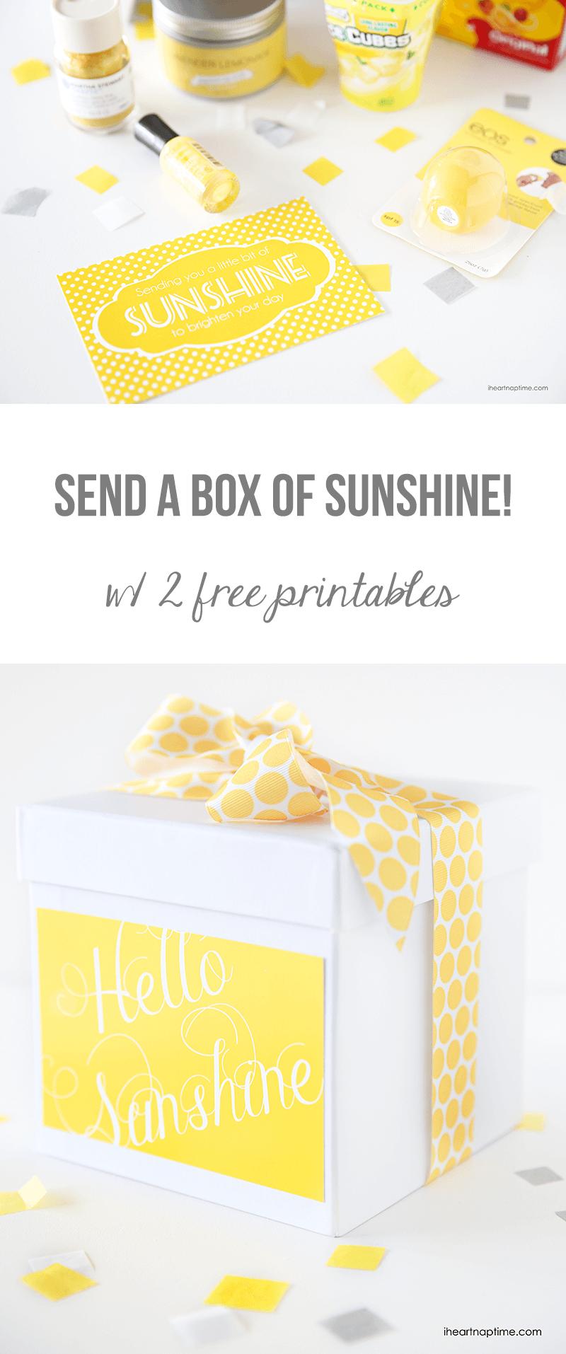 Send A Box Of Sunshine {Free Printables} - Box Of Sunshine Free Printable