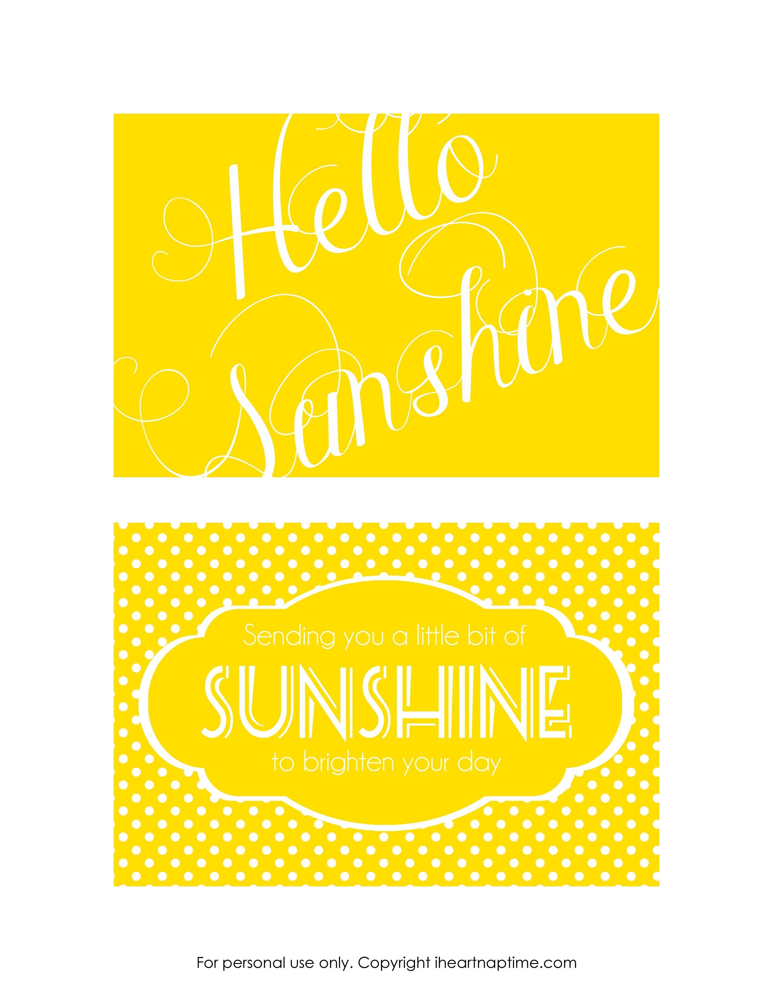 Send A Box Of Sunshine {Free Printables} | Family Goals/themes | Box - Box Of Sunshine Free Printable