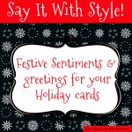Sentiments And Greetings For Christmas Cards   Free Printable Greeting Card Sentiments