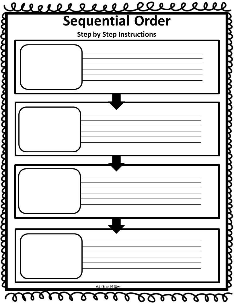 Sequence Graphic Organizer Template. The Very Busy Spider Story - Free Printable Sequence Of Events Graphic Organizer