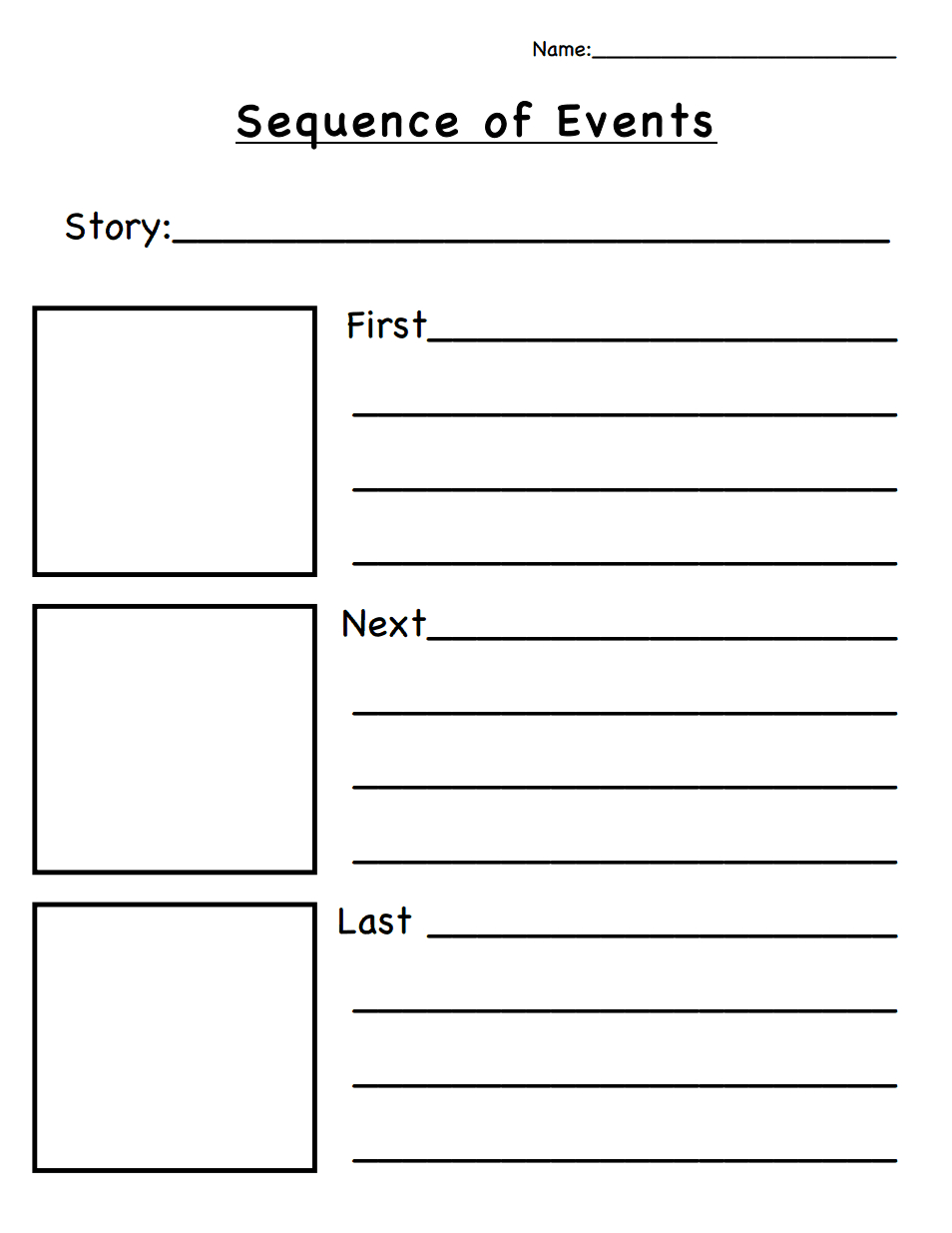 Sequence Of Events.pdf | Classroom Ideas | Sequencing Worksheets - Free Printable Sequence Of Events Graphic Organizer
