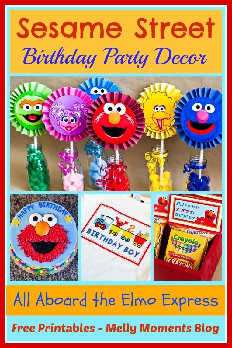 Sesame Street & Elmo Themed Birthday Party - Free Printable Sesame Street Food Labels