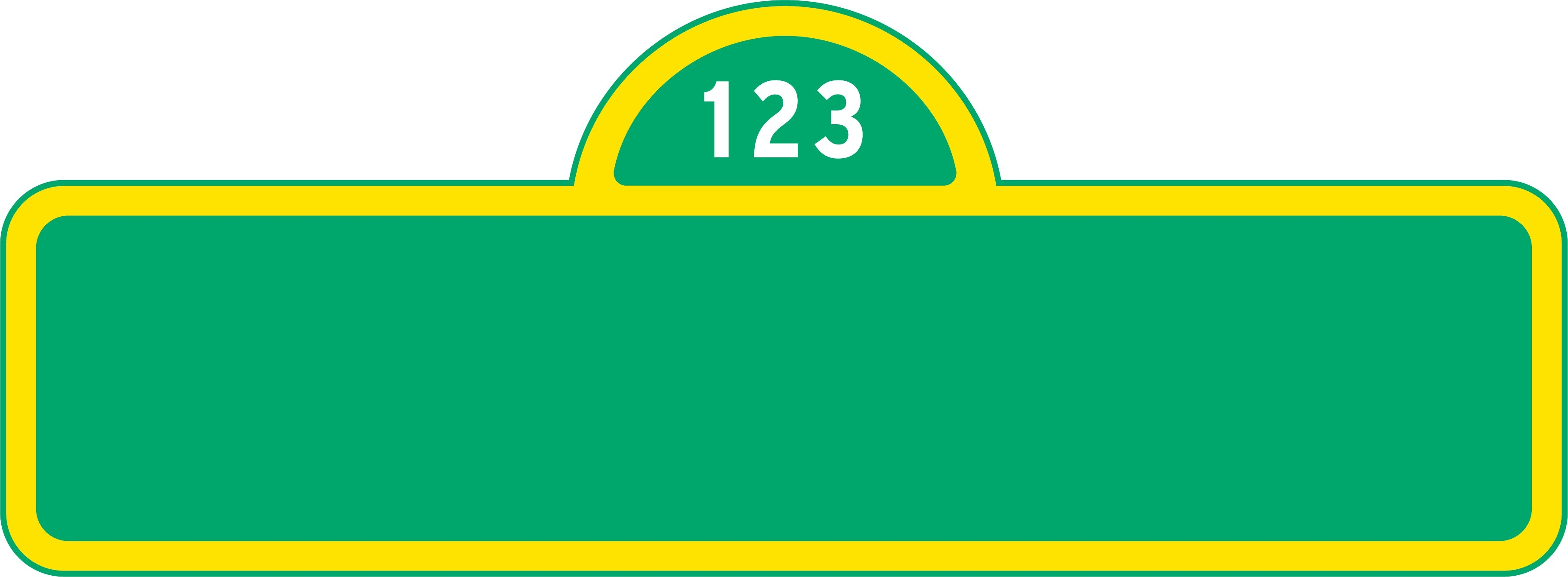 Sesame Street Logos - Free Printable Sesame Street Sign