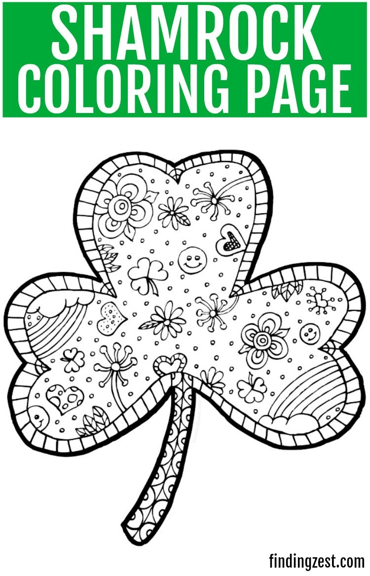 Shamrock Coloring Page Free Printable | Crafts: Free Printables - Free Printable Saint Patrick Coloring Pages