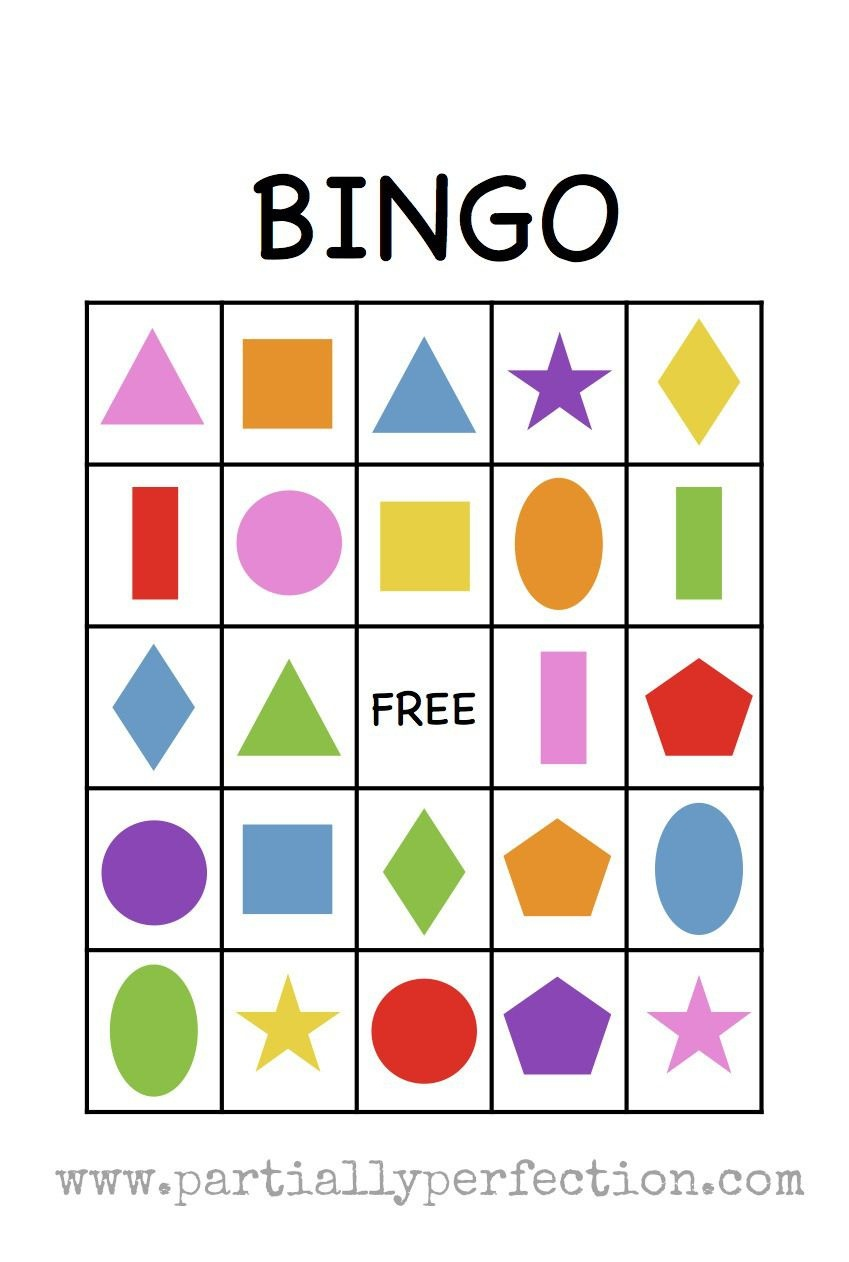 Shape Bingo Card - Free Printable - I'm Going To Use This To Teach - Free Printable Bingo Cards For Teachers
