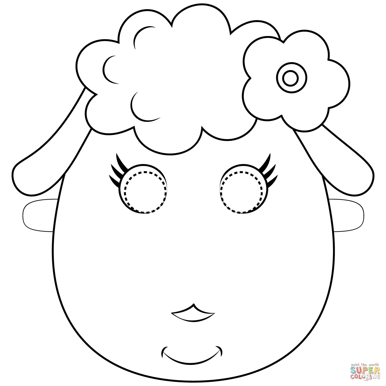 Sheep Mask Coloring Page | Free Printable Coloring Pages - Free Printable Sheep Mask
