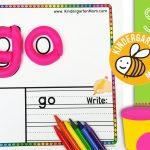 Sight Word Play Dough Mats   Kindergarten Mom   Free Printable Playdough Mats